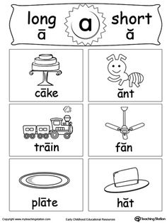 Help your child understanding and recognizing the short and long vowel A sounds with this Short and Long Vowel printable flashcards.