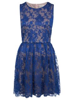 2ac8b06ac1 A fashion look from January 2013 featuring scalloped lace dress