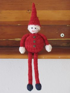 Father Christmas Santa Gnome Elf Knitting Pattern by mamma4earth