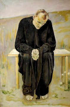 The Disillusioned One, 1892 by Ferdinand Hodler (Swiss 1853-1918)