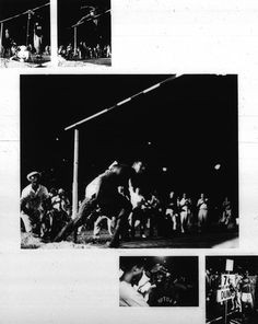 Photographer/Creator  John Bryson  Collection  1956  Publisher  Sports Illustrated  Caption/Description  Series of photographs showing Dumas breaking high jump record.