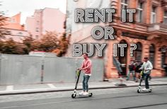"""""""The short answer"""" I would say: Rent it or use your friend's first, then buy it and love it… guaranteed (almost) No matter your commuting need, there is an electric scooter to fit your needs. Cheap Electric Scooters, Best Electric Scooter, Electric Skateboard, Electric Cars, E Scooter, Street View, Good Things, Fit, Vehicles"""