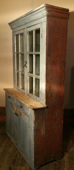 Stepback Cupboard- might be a good idea for craft storage? Will have to search thrift stores!