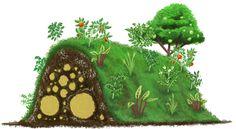 Hugelkultur   Raised beds with dead logs underneath need no irrigation or fertilisation