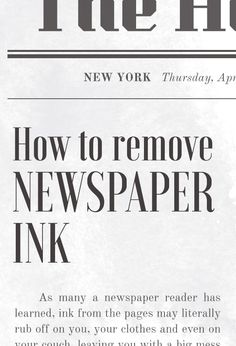 How to remove newspaper ink stains from your clothes and carpet Ink Stain Removal, Morning Papers, How To Remove, How To Get, Love Reading, Smudging, Helpful Tips, Newspaper, Cleaning Hacks