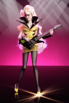 Rapture Ashe doll of The Stingers  (Jem and the Holograms)  by Integrity