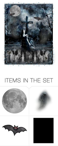 """A Night in the Graveyard"" by queenrachietemplateaddict ❤ liked on Polyvore featuring art, goth, cemetery, dark and fantasy"