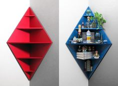 Reclaim some corner space for books, knick-knacks or supplies while adding a touch of style. Video after the cut.