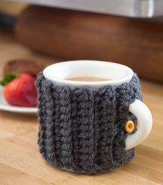 FREE Ribbed Mug Cozy Crochet Pattern from @Jo-Ann Fabric and Craft Stores