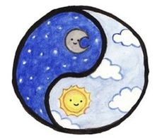 moon and the sun, ying yang drawings kawaii Eliana Cute Little Drawings, Cute Easy Drawings, Bff Drawings, Cute Kawaii Drawings, Kawaii Doodles, Cool Art Drawings, Cute Doodles, Pencil Art Drawings, Art Drawings Sketches