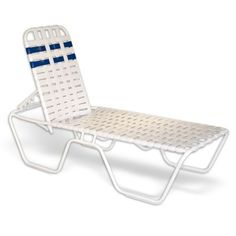 Strap Patio Stackable Criss Cross Chaise Lounge 78x27x16 White $225.00