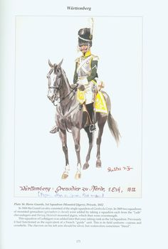 The Confederation of the Rhine - Württemberg: Plate 16. Horse Guards, 1st Squadron (Mounted Jägers), Private, 1812