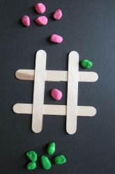 Activities: Popsicle Stick Tic-Tac-Toe...an activity for indoor recesses or when finished work.  education.com