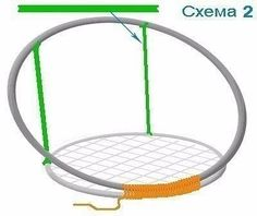 Round chair in macramé - Stühle Macrame Hanging Chair, Macrame Chairs, Macrame Art, Macrame Projects, Macrame Knots, Diy Hanging, Hanging Chairs, Rattan Chairs, Swing Chairs