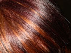 Red lowlights with golden blonde hilights by toeknee60, via Flickr (minus the blond and add darker brown)