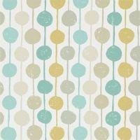 Scion Taimi behang bolletjes blauw en geel
