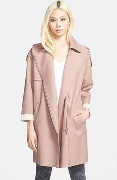 GLAMOROUS Zip Front Trench Coat #pink #trenchcoat #trench #coat #jacket #mauve #fashion