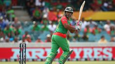 Tamim Iqbal plays a flick, Afghanistan v Bangladesh, World Cup 2015, Group A, Canberra, February 18, 2015