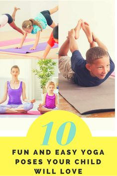 The best way to keep your little ones healthy, both physically and mentally, is yoga. It not only helps in stress release but also improves concentration, encourages your child to be creative and helps them lead a balanced life. Check these 10 fun yoga pose that your child love to do. #yoga #fun #kids