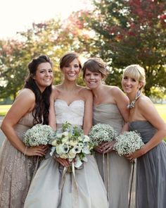 Neutral-Hued Bridesmaid Dresses