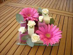 Art+deco+flower+arrangement | Réalisez une composition simple et moderne avec peu de matériel!