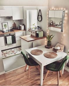 apartment kitchen 48 New Step By Step Roadmap For Studio Kitchen Ideas Small Spaces 2 - Small Apartment Kitchen, Small Space Kitchen, Home Decor Kitchen, Kitchen Interior, Home Kitchens, Diy Kitchen, Small Living Room Kitchen Ideas, Interior Design Ideas For Small Spaces, Awesome Kitchen