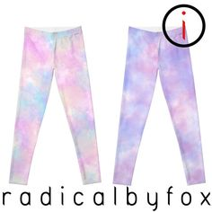 Plur Pastel Rave Leggings - Workout, Yoga & Excercise Pants - All Over Print - Pastel Goth, Lolita, Fairy Kei Gothic Leggings, Rave Gear, Pastel Pattern, Edm Festival, Workout Leggings, Exercises, Workouts, Music Festivals, How To Wear