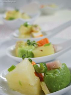 Pineapple surimi avocado salad Lime Cream, Avocado Salad, Cantaloupe, Pineapple, Fruit, Food, Pinecone, Pine Apple, The Fruit