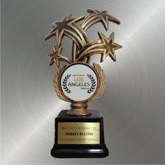 I Nostri Lavori Trofeo Personalizzato con adesivo e targa in ottone
