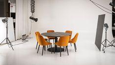 Tätä viikkoa on vietetty tuotekuvausten parissa. 📷 Kuvauksissa keskityttiin Pohjanmaan ruokaryhmiin, kuten näihin kevään Rondo-uutuuksiin! 🧡 #askohuonekalut #asko #pohjanmaan_rondo Table And Chairs, Dining Table, Chair Design, Conference Room, Furniture, Home Decor, Decoration Home, Room Decor, Dinner Table