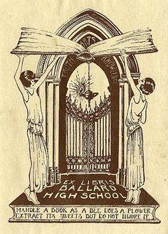 ≡ Bookplate Estate ≡ vintage ex libris labels︱artful book plates - Art Nouveau