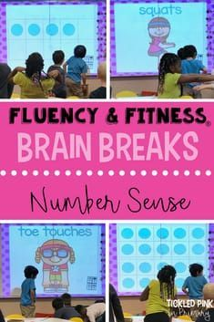 Fluency and Fitness®️️ is a great brain break to help your kindergarten or first grade students get the wiggles out, while practicing their number sense. Students BEG to do this! Click through to learn more! Number Sense Activities, Kindergarten Math Activities, Fun Math, Preschool, Kindergarten Classroom, Maths, 1st Grade Math, First Grade, Grade 1