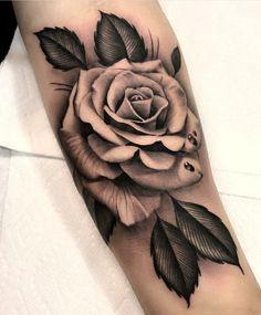 Realistic Rose Tattoos for Everyone – Tattoo Icon Cute Tattoos, Beautiful Tattoos, Flower Tattoos, Body Art Tattoos, Hand Tattoos, Small Tattoos, Sleeve Tattoos, Rose Tattoo Sleeves, Tattoos Of Roses