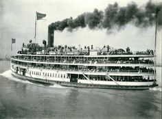 From 1911 to 1949 the steamer, Put-in-Bay, transported passengers from Detroit to Sandusky, with stops at Put-in-Bay and Cedar Point, Ohio Cedar Point Ohio, Marblehead Ohio, Great Lakes Ships, Sandusky Ohio, The Buckeye State, Bay Lake, Vacations To Go, Park Resorts, Lake Erie
