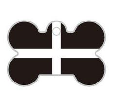 Cornish Flag Bone Dog ID Tag | Happy Dog Days