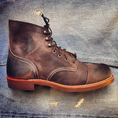 Red Wing Shoes 4590 Iron Ranger Chocolate Muleskinner | exclusively available at www.redwingamsterdam.com | #redwing #redwings #redwingshoes #redwingamsterdam #usbootsfreak #ironranger #chocolate #leather #b | Flickr - Photo Sharing!