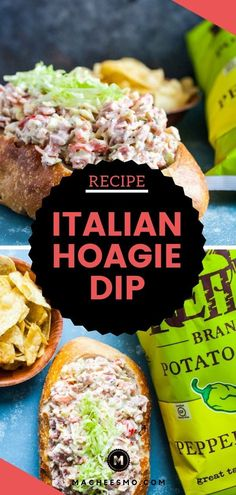 Home Made Doggy Foodstuff FAQ's And Ideas The Ultimate Game Day Dip For Your Next Party Is This Italian Hoagie Dip Recipe Classic Italian Flavors Stirred Together And Served With Crunchy Chips Yum Popular Appetizers, Game Day Appetizers, Yummy Appetizers, Appetizer Recipes, Simply Recipes, Dip Recipes, Snack Recipes, Easy Recipes, Savory Snacks