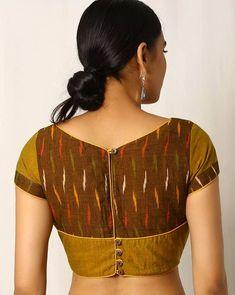 Choli Designs, Kurta Designs, Kalamkari Blouse Designs, Cotton Saree Blouse Designs, Simple Blouse Designs, Stylish Blouse Design, Indie, Designer Blouse Patterns, Mustard Yellow