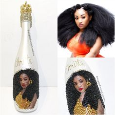 Our newest and most unique Memory Bottle....we call these selfie bottles. Compare to the real pic! Order by calling 818-817-7575  Champagne bottle done right good for birthdays and anniversaries