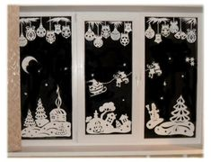 christmas window decorations ideas - Google Search