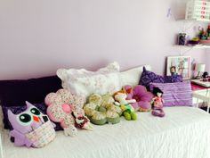 Quarto de Menina #Artesanato - Cute Pillow, child bedroom