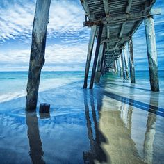 Large Piers are a feature among beaches situated on the coast of South Australia. The mid morning light. Australia Capital, Australia Travel, Adelaide South Australia, Western Australia, Adele, Future Travel, Holiday Destinations, South Beach, Amazing Photography