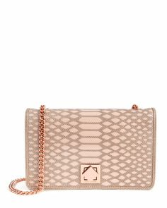 WHIRRET - Metallic cut out clutch - Nude Pink | Womens | Ted Baker UK