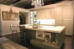 You know a kitchen design is good when it makes you mentally redesign your own space. That's how I feel about the Sotheby's Showhousekitchen designed by St. Charles of New York using appliances by Gaggenau. The custom color of the cabinetry and brass hardware is a perfect contrast to the antique silver and china from […]