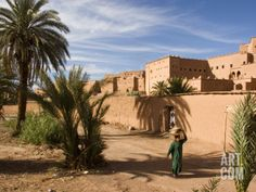 Taourirt Kasbah, Ouarzazate, Atlas Mountains, Morocco, North Africa, Africa Photographic Print by Levy Yadid at Art.com