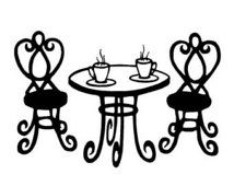 clip art french al fresco cafe table with red and white umbrella rh pinterest com cafe clipart vector cafe clipart image