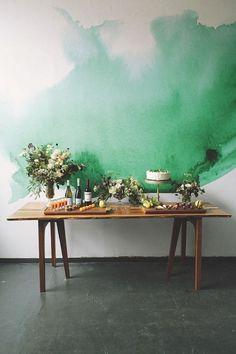 Le papier peint aquarelle—Ce papier peint donne l'illusion que l'on a peinturé le mur façon aquarelle.