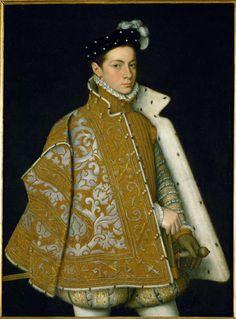 Duke of Parma, c. 1561 by Sofonisba Anguissola (1532-1625), female Italian Renaissance painter