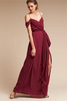 BHLDN's Watters Kane Dress in Marsala