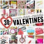 30+ Printable Non-Candy Valentines square